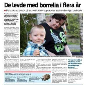artikel i Vallentunasteget om min son Marcus och mig